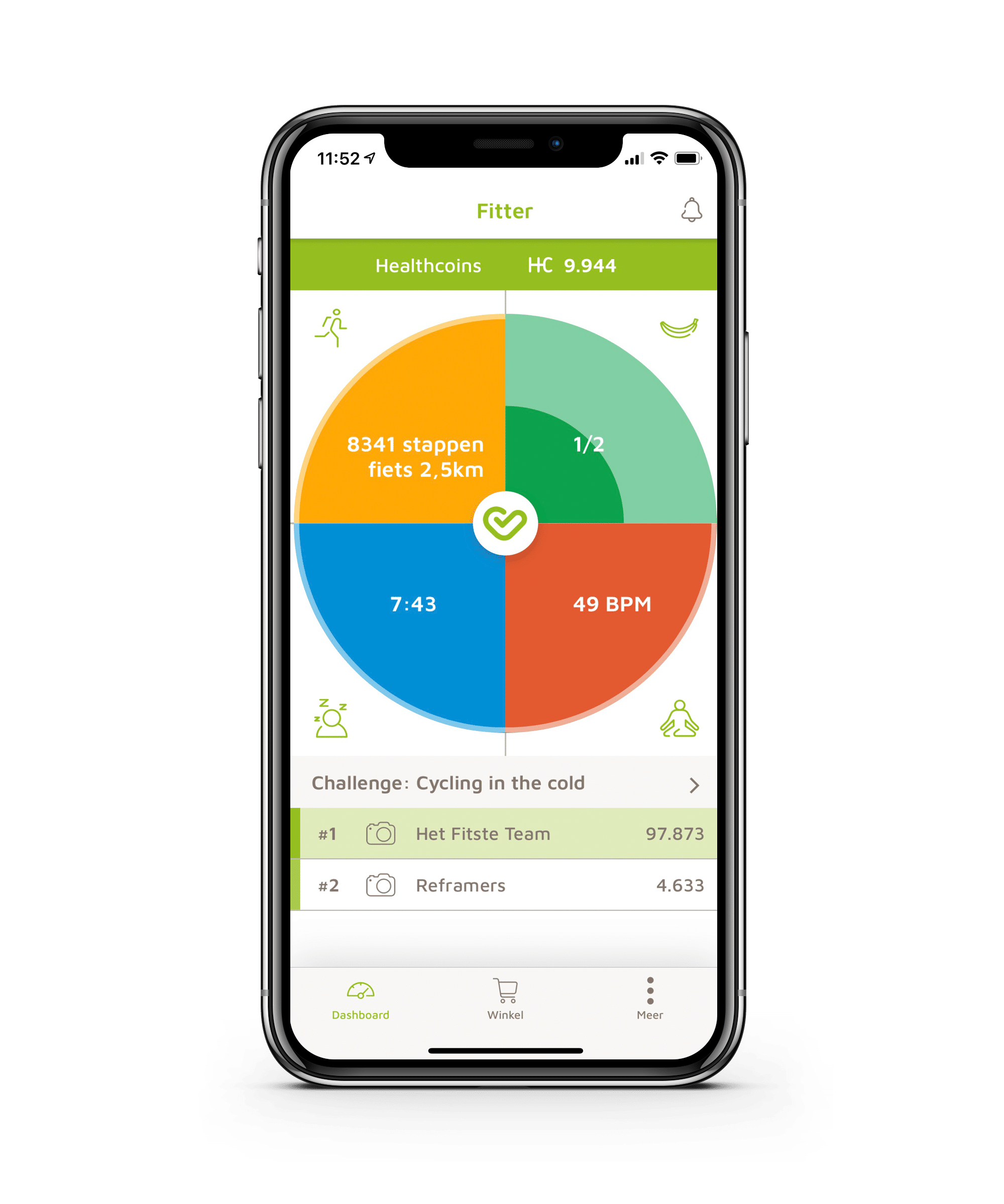 Vitaliteitsapp Biotracking